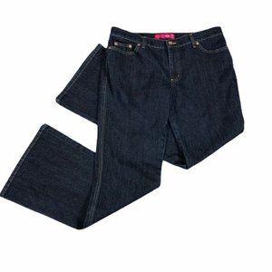 Glo Dark Wash Flare Wide Leg Jeans 11